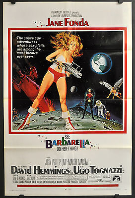 Barbarella 1968 Orig 27X41 1-Sheet Movie Poster Jane Fonda John Phillip Law