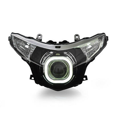 KT LED Angel Eyes Projector Headlight Assembly for Honda CBR250R 2011-2013 White