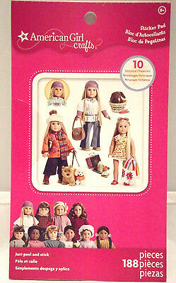 American Girl Sticker Pad Crafts Julie 188 pieces Peel & Stick