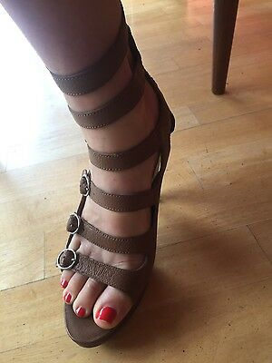 Nine West leather strappy heels size 7