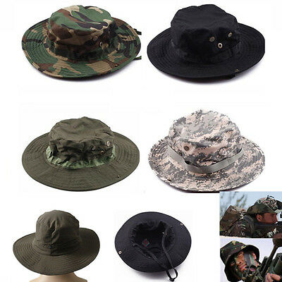 cf38917372d98 Hunting Hat Military Army Cap Boonie Outdoor Fishing Wide Brim Bucket Hat  Cover