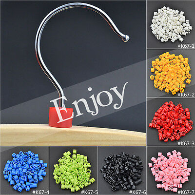 100 Pcs Clothing Hanger Size Markers Garment Sizers Tags Plastic Colored Label