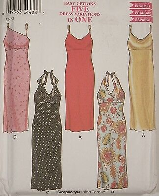 Halter Dress Sewing Pattern New Look # 6035 Size 8 To Plus Size 18 Uncut