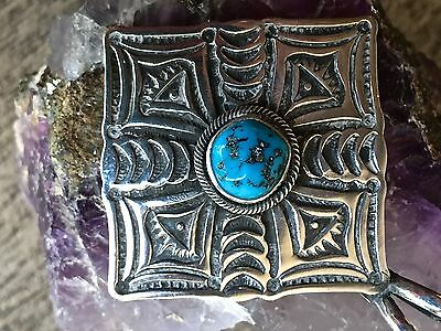 Native American Gary Reeves Navajo Sterling Silver Turquoise Pendant