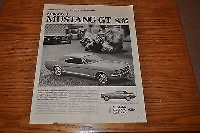 1966 Ford Mustang GT toy car vintage print ad - Free USA Shipping