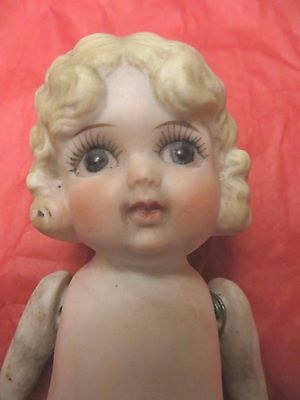 Vintage Bisque Kewpie Doll Jointed 6 In. Made In Japan Flapper Style