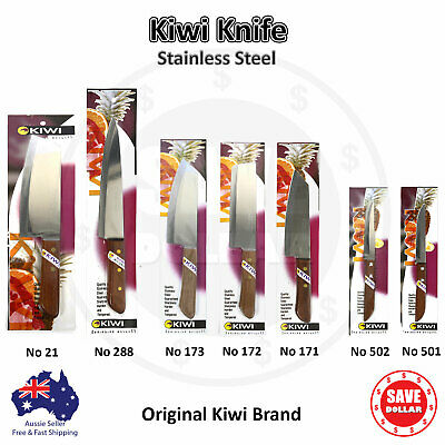 KIWI Knife Stainless Steel Blade - Utility Meat Chef's Fruit/Vegetable Kitchen