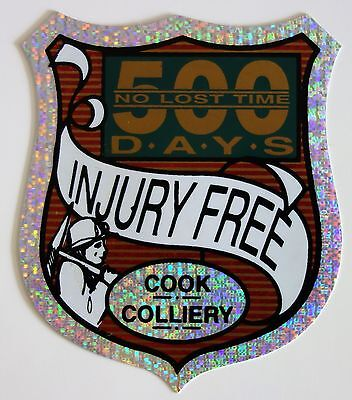 Cook Colliery Mining Sticker For Tool Box Work Bench Tools Fridge Etc