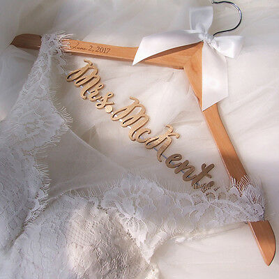 Personalized Wedding Hanger Bridal Bridesmaid Name Wedding Dress Hanger LL038 G