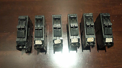 Lot of 6 General Electric TR Tandem Breakers FREE SHIPPING