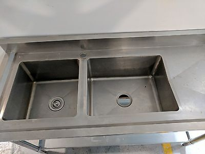 Commercial double sink 150x600x100