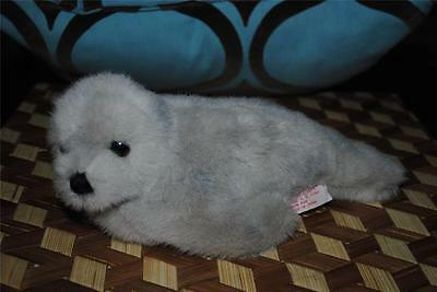 "Douglas Co. Cuddle Toys Gray Grey Seal Vintage 1980's Rare Retro Plush 10"" CUTE"