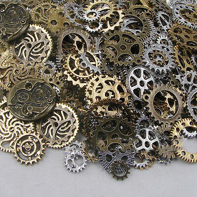 100g Vintage Steampunk Wrist Watch Old Parts Gears Wheels Steam Punk