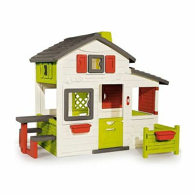 Smoby Friends Childrens Garden Playhouse, Kids Outdoor Wendy House