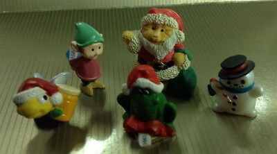 Hallmark Christmas Merry Miniatures Lot Of 5.  3 With Gold Tags