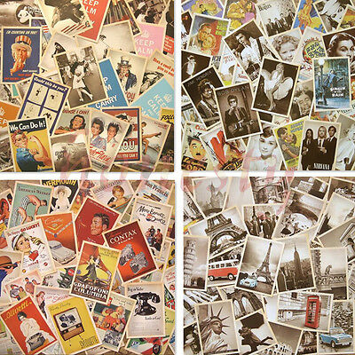Lot of 32 Mixed Classic Vintage Retro Advertising Movie Star Poster Postcards