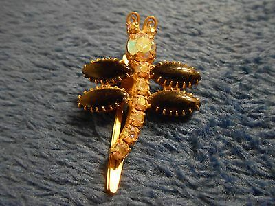 Vintage Continental Dragonfly Hair Clip