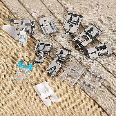 1Set/11Pc Domestic Sewing Machine Presser Feet Generic for Brother Singer Janome