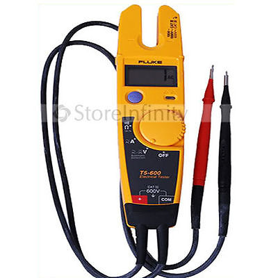 Fluke T5-600 Clamp Meter Continuity Current Electrical Tester
