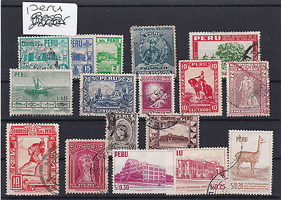 Peru Stamps On Stock Card . Ref 1780