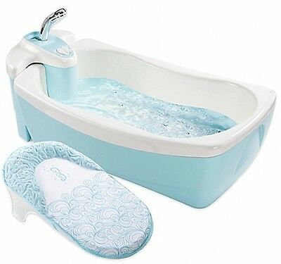 Summer Infant Luxuries Whirlpool BubBling Spa and Shower Bath Tub Light Blue