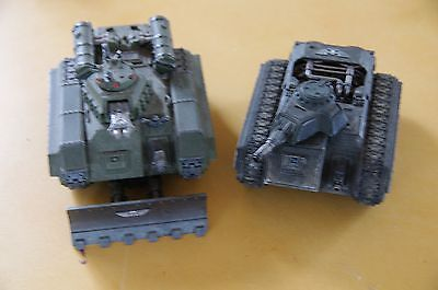 Astra Militarum- Hellhounds x 2 - painted- very good cond - ready to play