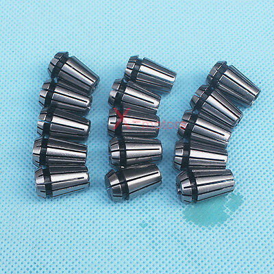 "New 15Pcs ER11 Spring Collet Set 1/16""-3/4"" CNC Super Precision Milling tool"