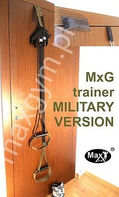 Oryginal Max Gym® training. Body Trainer Suspension. Fitness Resistance-army