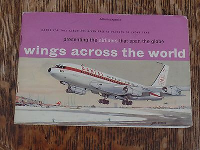 Lyons Tea Cards Complete Set In Album Wings Across The World 1961