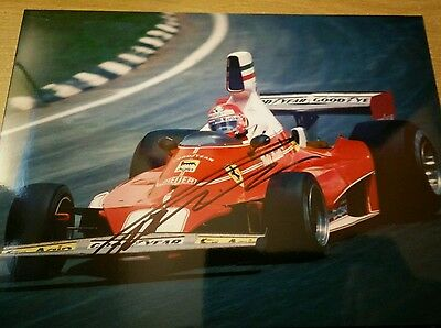 Niki Lauda signed F1 World Champion LEGEND, genuine autograph, 8x6,fast delivery