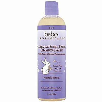 Babo Botanicals Natural Lavender Meadowsweet 3 in 1 Baby Bubble Bath Shampoo -