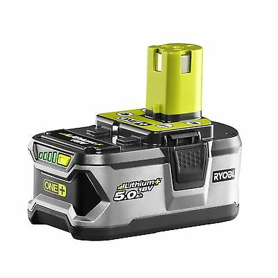 RYOBI GENUINE ONE+ 18V  5.0ah lithium battery + charger