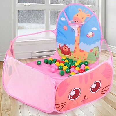 Cute Portable Foldable Ocean Ball Pit Pool Kids Tent House Outdoor Play Set Toy