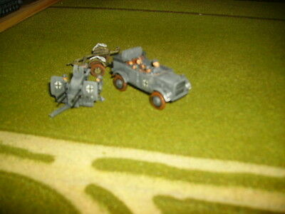 20mm WW2 German Quad Flak + tow well painted