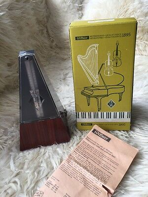 Wittner Metronome, Original Box and Instructions, 'Mahogany Grain Without Bell'