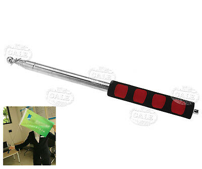Black Red Extendable 2M Handheld Windsock Telescopic Flag Pole Ferula Pointer