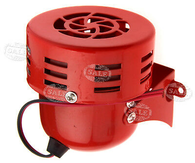 12V Small Car Truck Motorcycle ATV Raid Siren Electric Horn Alarm 115DB Red