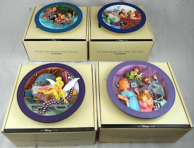 Complete Set of 4 Peter Pan Collectible Plates MIB Limited Edition of 7500