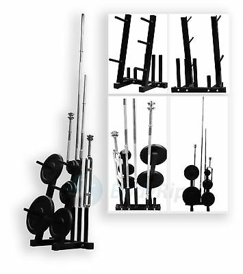 "BodyRip 1"" Standard Weight Barbell Plate Rack Stand Holder Tree Gym Storage"