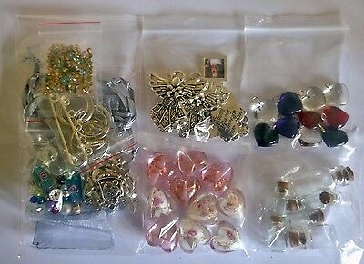 Jewellery making joblots ~ crafts ~ hearts ~ mixed pendants ~ beads ~ charms