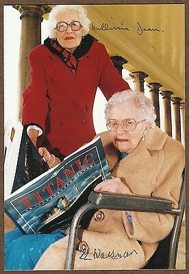 Titanic - Postcard Signed By Oldest And Youngest Survivors