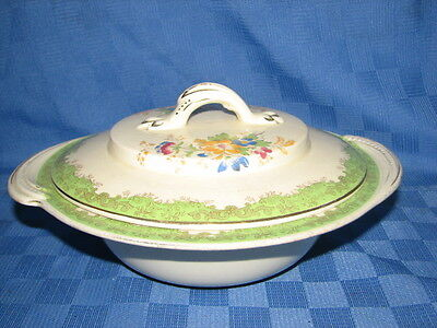 Burleigh Ware Covered Serving, Vegetable Dish, Bowl, Tudor, Made in England