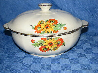 Alfred Meakin England, Covered Serving, Vegetable Dish, Bowl, Tureen