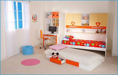 We Are Beds Queen of Hearts Girls Bed Frame Complete Furniture Set / Storage