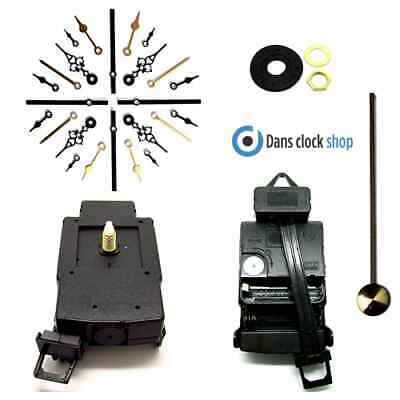 Quartz Complete Pendulum Clock Drive Unit With Movement Mechanism & Metal Hands