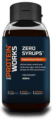 Zero Syrups Calorie Free Syrup from THE PROTEIN WORKS™ - 7 Flavs - 400/600ml
