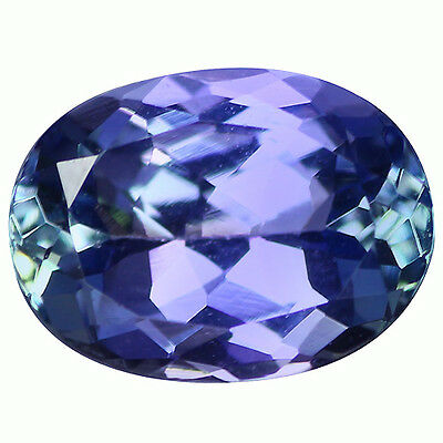1.10 Ct Brilliant ! Sparkling Fire 100% Natural Luster Purple Blue Tanzanite.