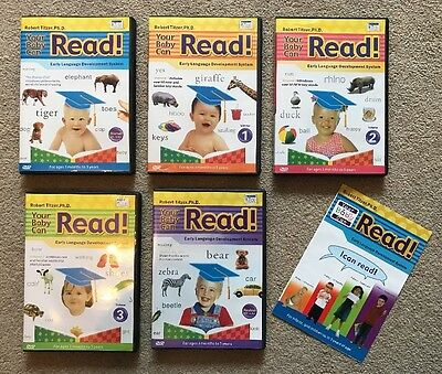 Your Baby Can Read - Robert Titzer - 5 Interactive DVDs Plus Bonus Word Cards