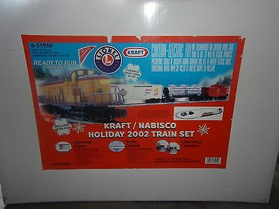 Lionel 6-31950 2002 Kraft/nabisco Holiday Train Set Complete In Box