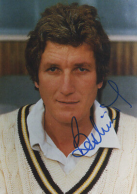England Test Cricket - Bob Willis - In Person Signed Colour Photograph.